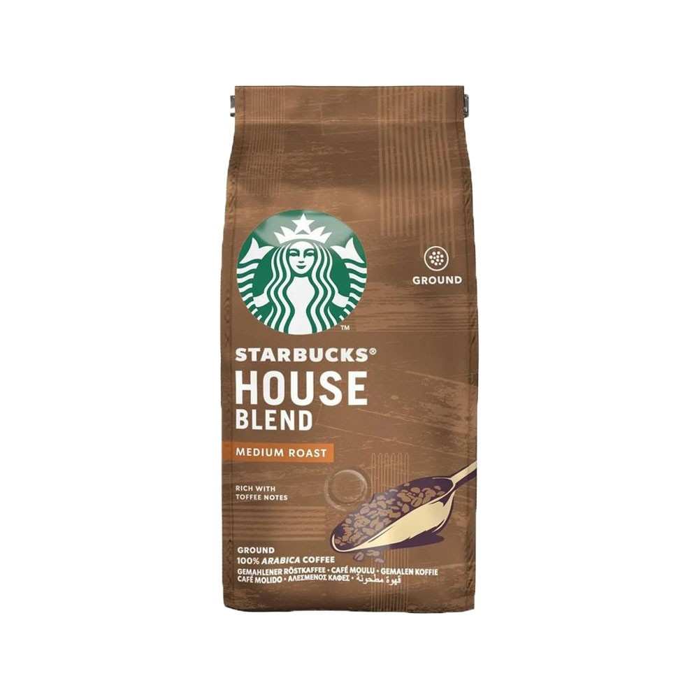 Starbucks Medium House Blend Ground Filter Coffee 200g